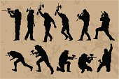 Paintball Players silhouettes