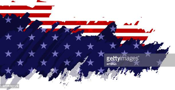 painted american flag - democracy stock illustrations