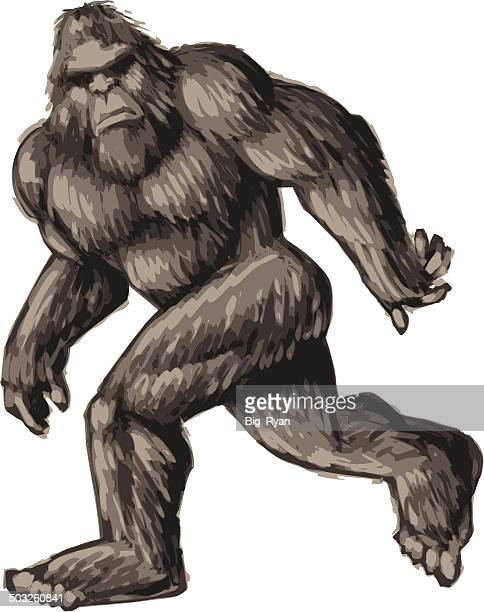 painted bigfoot - bigfoot stock illustrations
