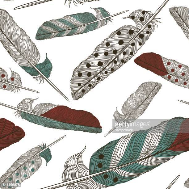 Painted Feather Pattern
