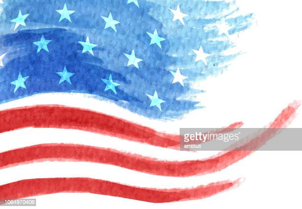 gemalte flagge - usa stock-grafiken, -clipart, -cartoons und -symbole
