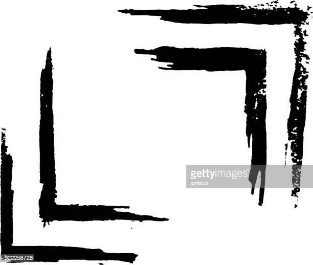 lackierte rahmen - bürsten stock-grafiken, -clipart, -cartoons und -symbole