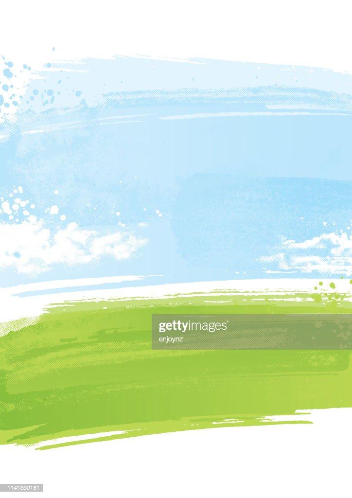 Painted landscape background : stock illustration