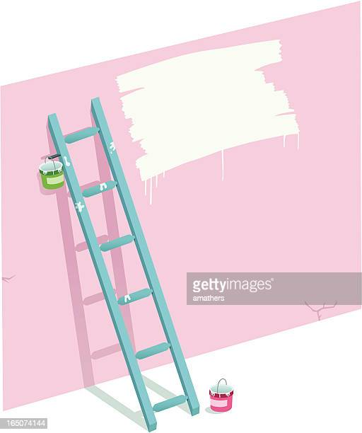 painted message - surrounding wall stock illustrations
