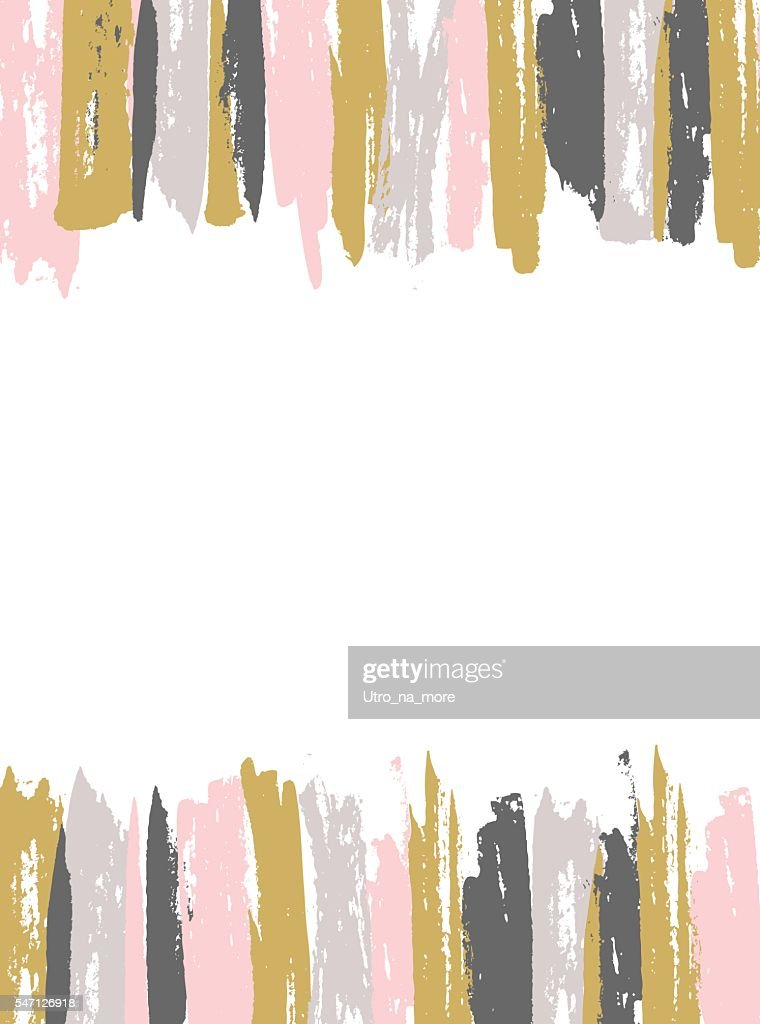 Painted Pink and Gold Striped Background.