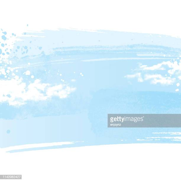 painted sky background - light blue stock illustrations