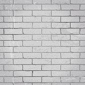Painted White Bricks In A Seamless Background
