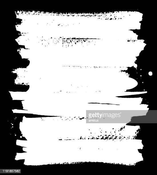 lackierter weißer rahmen - erodiert stock-grafiken, -clipart, -cartoons und -symbole