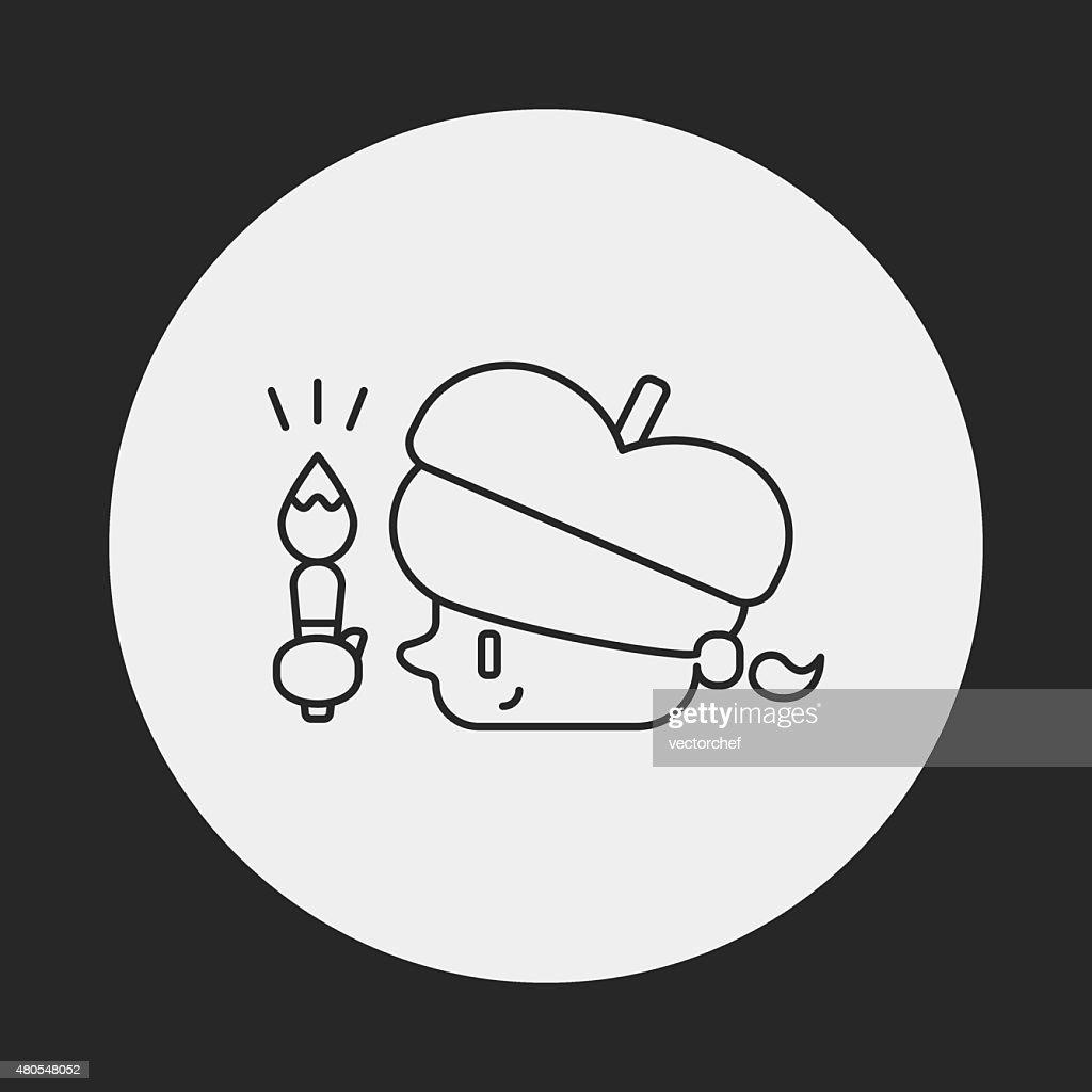 Painter line icon : Vector Art