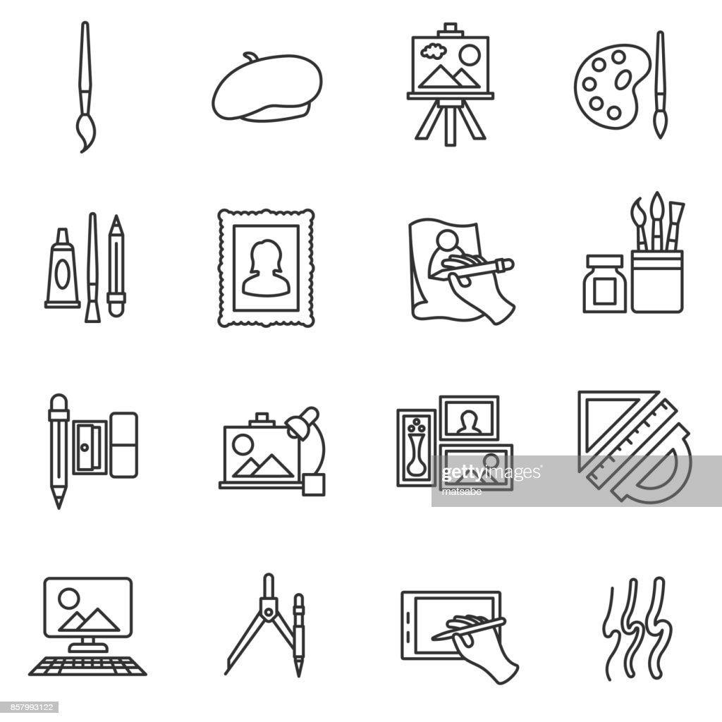 painter set icons.
