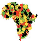 Painterly Africa Map