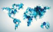 Painterly world map