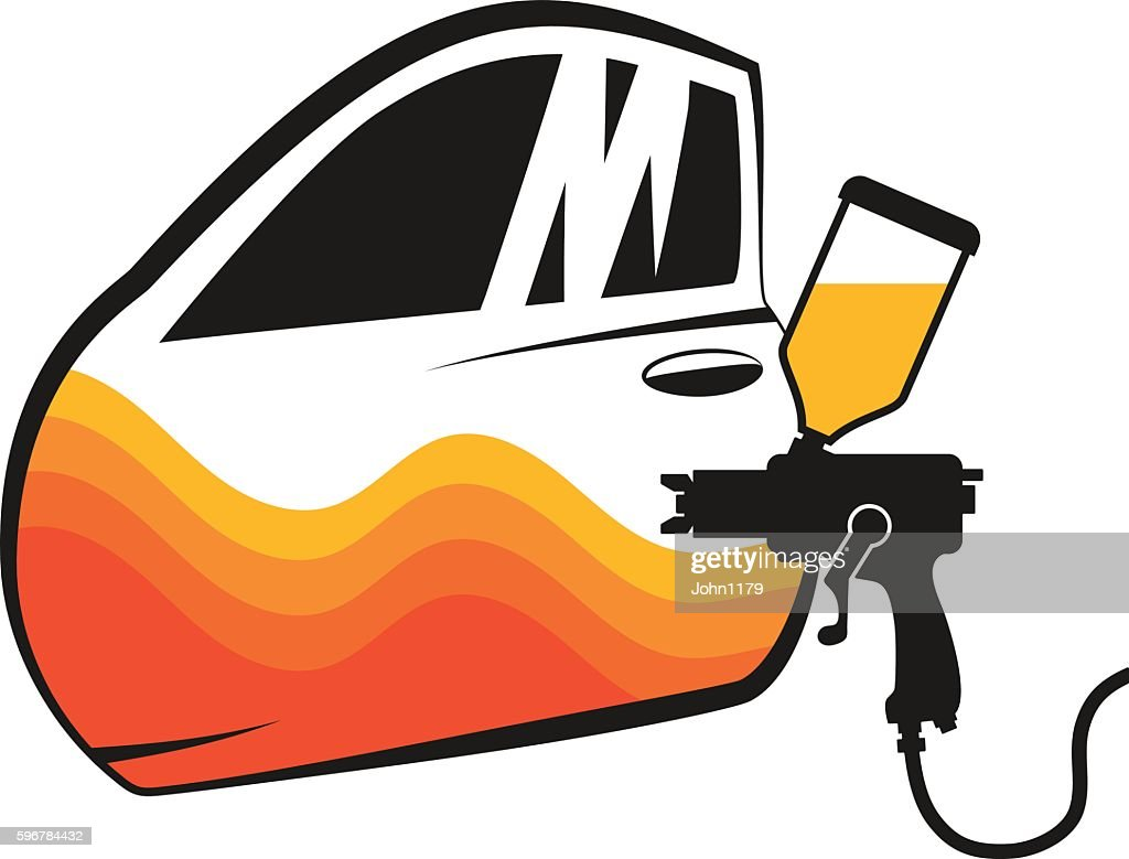 Painting cars vector
