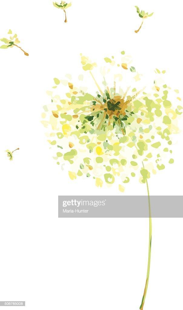 Painting, drawing -- air dandelions