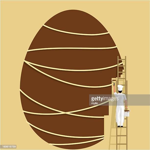 30 Meilleurs Oeuf De Paques En Chocolat Illustrations Cliparts