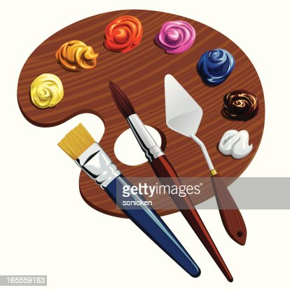 Painting tools vector art getty images - Painting tool avis ...