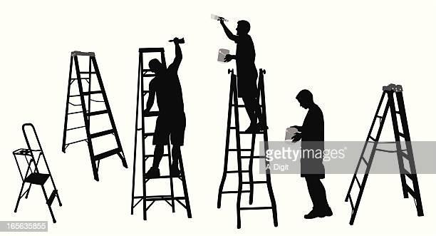 Painting'n Ladders Vector Silhouette