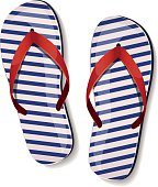 Pair of flip-flops. Vector illustration.
