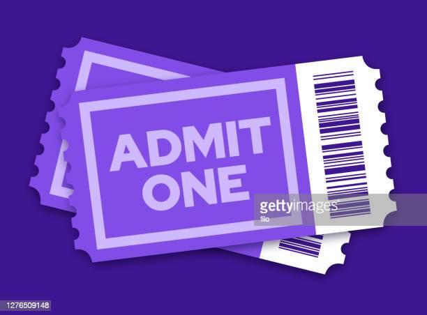 ilustrações, clipart, desenhos animados e ícones de par de ingressos para um show de cinema ou outro evento de entretenimento - comício político