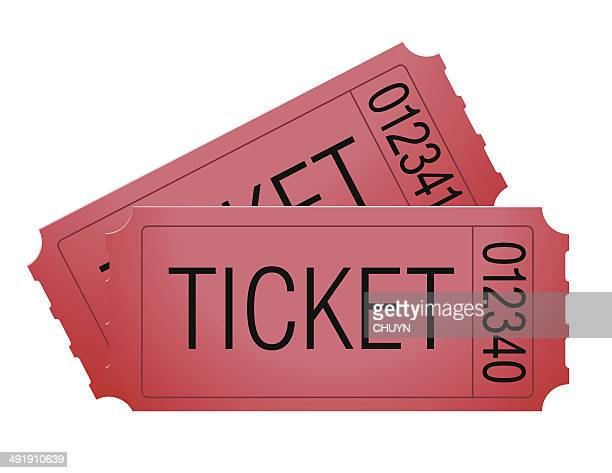 pair of tickets - raffle stock illustrations