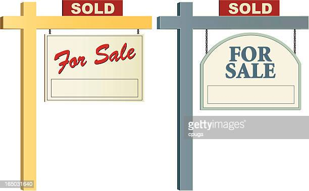 Pair of Vector Realty Signs