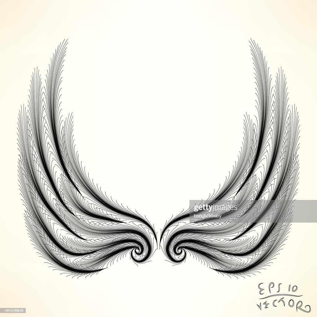 Pair of wings Elements for design