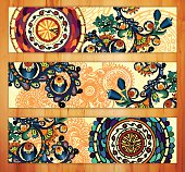 Paisley ethnic batik backgrounds