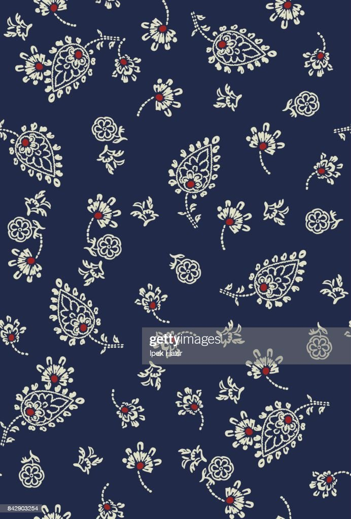 paisley floral ditsy allover pattern