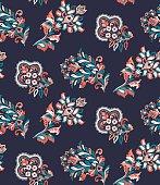 paisley flower allover pattern