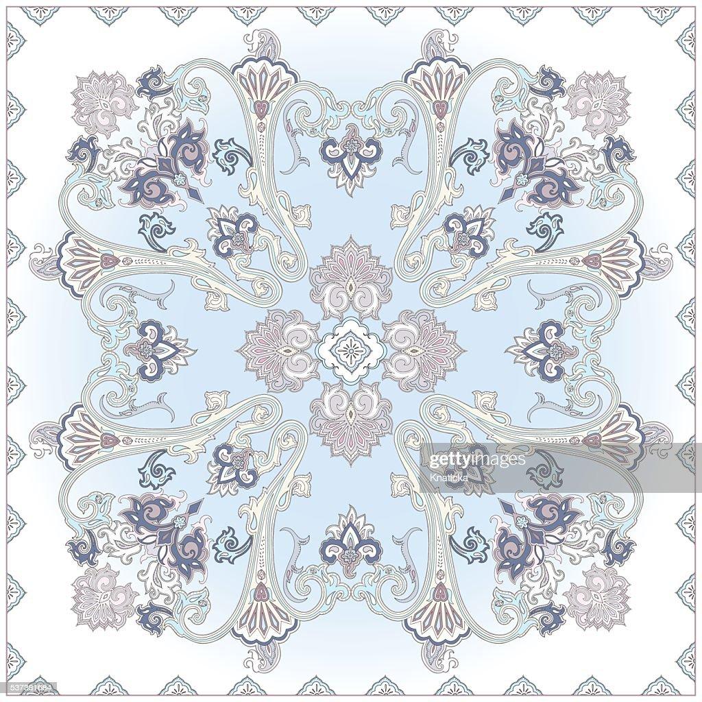 Paisley pattern, colour scarf design