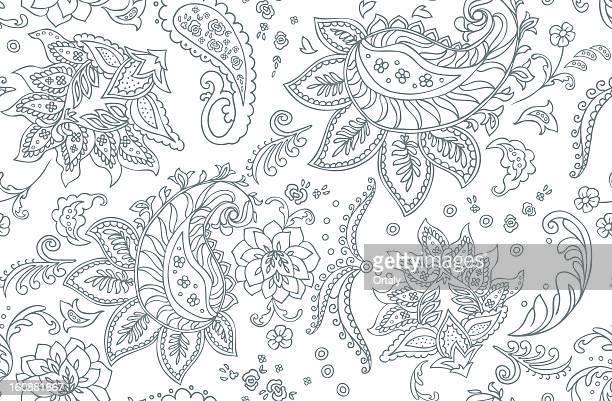 paisley pattern - paisley pattern stock illustrations, clip art, cartoons, & icons