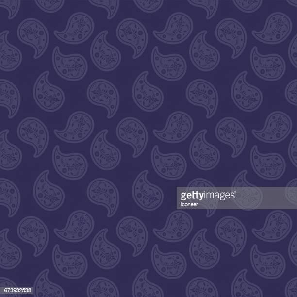 paisley royal lilac wallpaper seamless pattern retro design - paisley pattern stock illustrations, clip art, cartoons, & icons