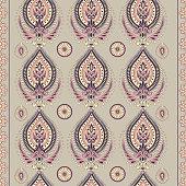 paisley style seamless vector pattern