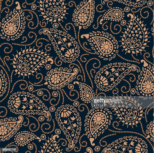 paisley_pattern - textile industry stock illustrations