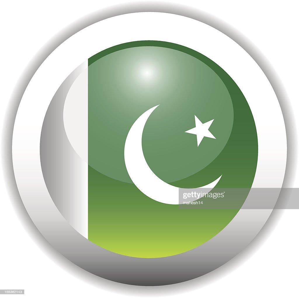 Pakistan Flag Button (Icon)