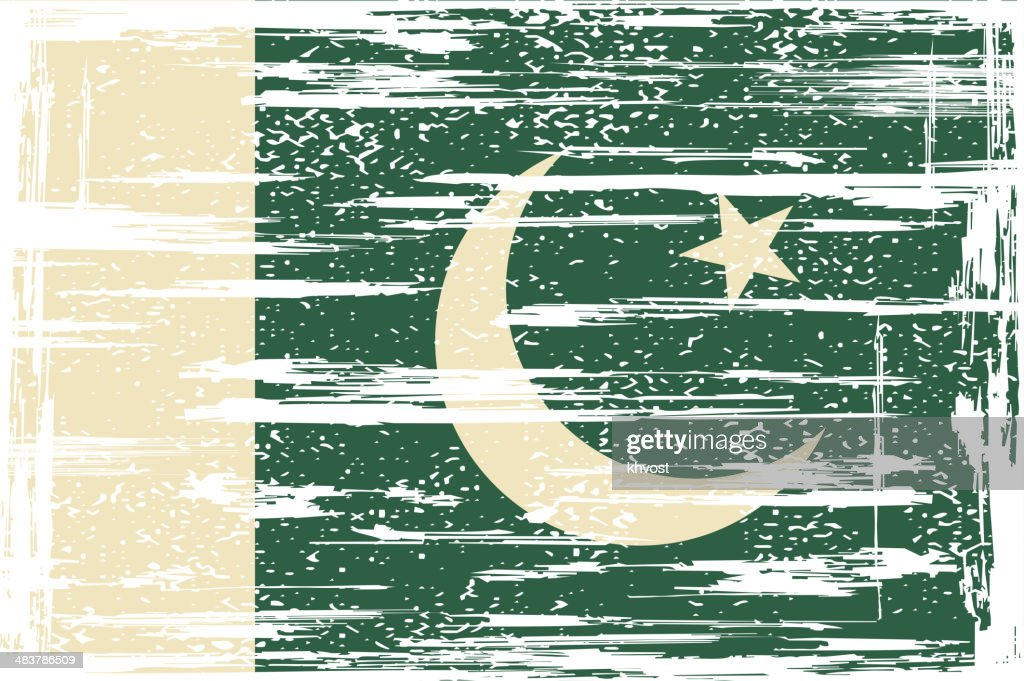Pakistan grunge flag