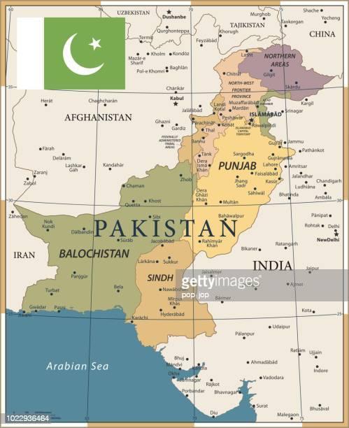 20-パキスタン - ビンテージ色ダーク - イスラマバード点のイラスト素材/クリップアート素材/マンガ素材/アイコン素材