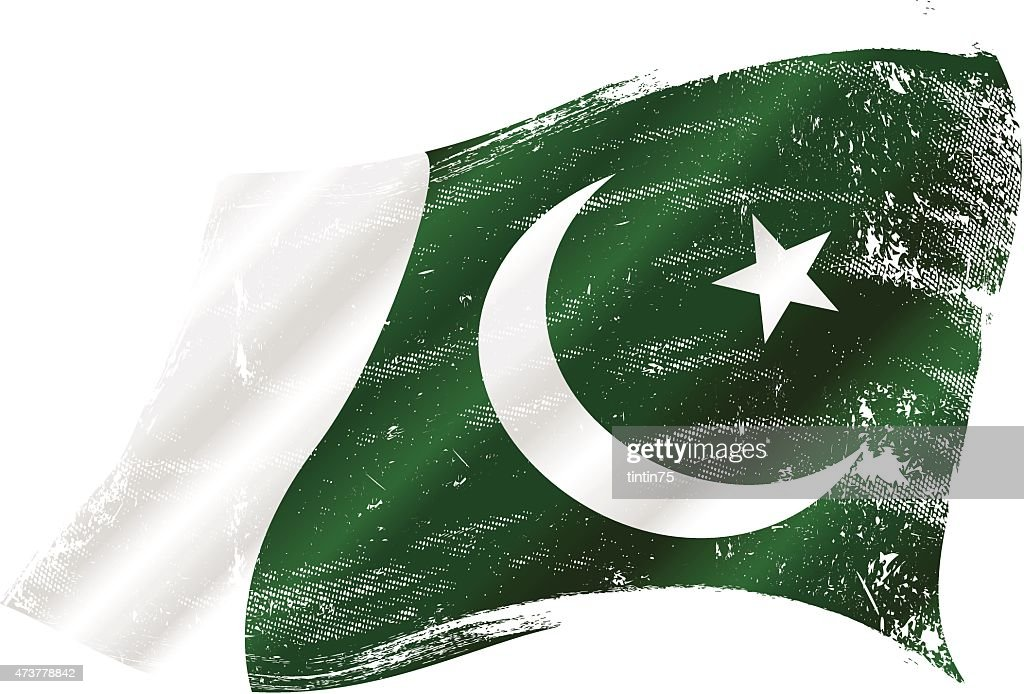 Pakistani grunge flag