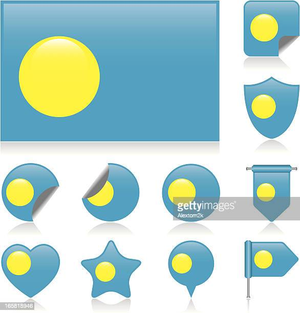 Palau flag set