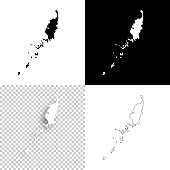 Palau maps for design - Blank, white and black backgrounds