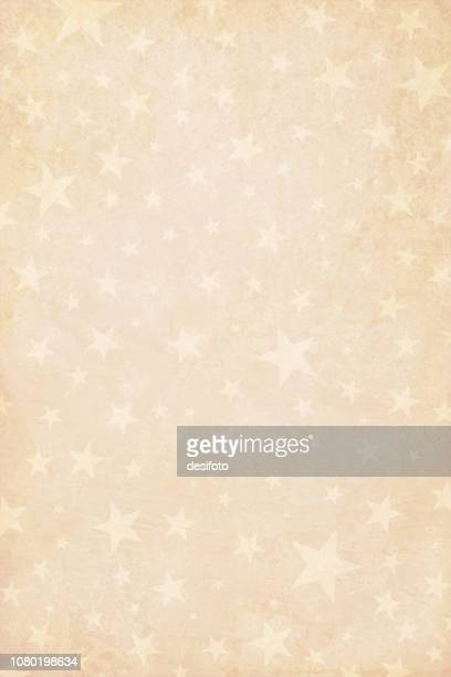 pale grunge beige yellowed dark brown faded vector illustration of a starry party background in vintage color- vertical illustration - cream colored stock illustrations