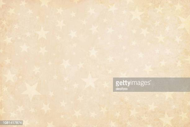 pale grunge beige yellowed light  brown faded vector illustration of a starry party background in vintage color- vertical illustration - cream coloured stock illustrations