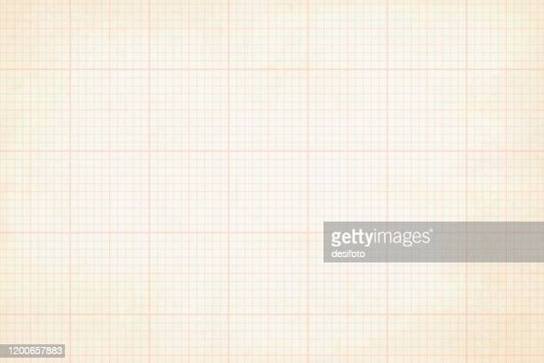 pale grunge effect sheet of chequered graph paper - graph stock illustrations