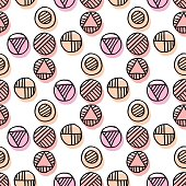 pale rose color vector seamless pattern
