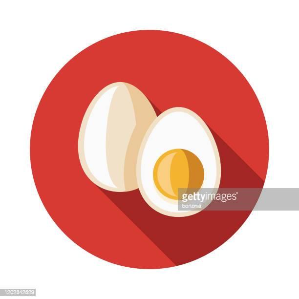 paleo diet eggs icon - paleolitico stock illustrations