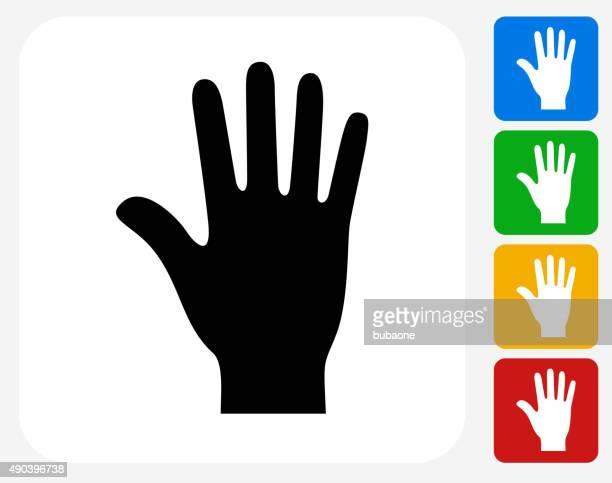 palm icon flat graphic design - wrist stock illustrations, clip art, cartoons, & icons