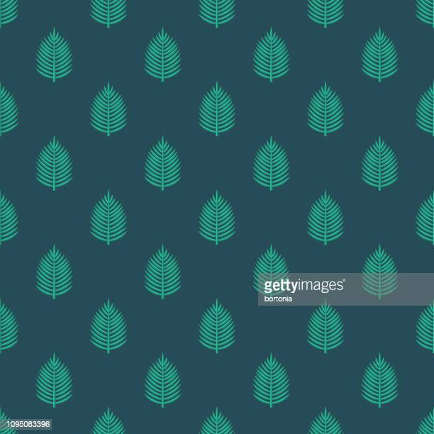 palm leaf christianity seamless pattern - easter sunday stock illustrations