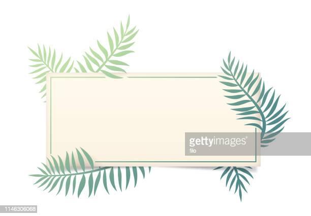 palm leaf frame - hawaiian shirt stock illustrations