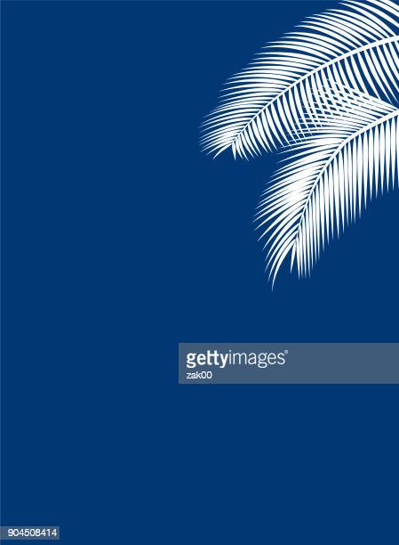 palm leaf template - coconut leaf stock illustrations, clip art, cartoons, & icons