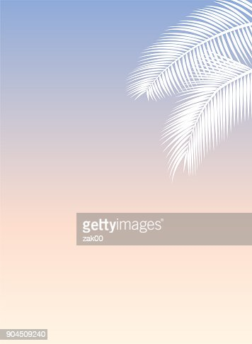 palm leaf template vector art getty images